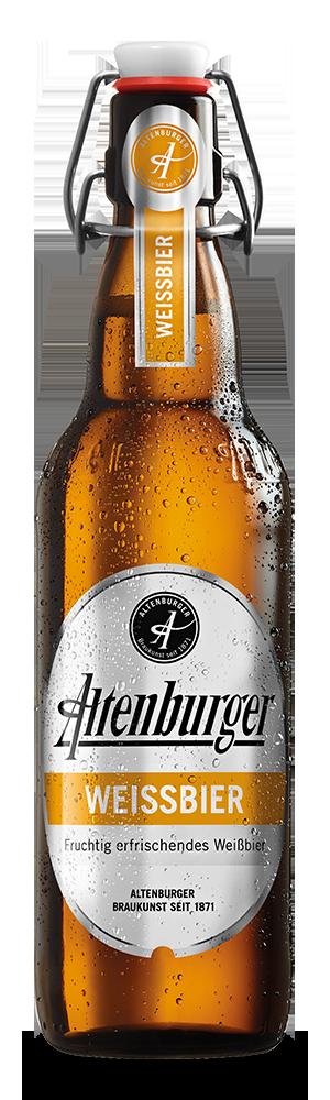 Abbildung Flasche Altenburger Weißbier