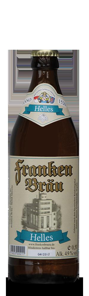 Abbildung Flasche Franken Bräu Helles