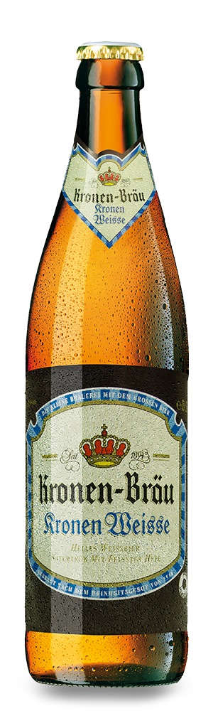 Abbildung Flasche Kronen-Bräu Kronen Weisse