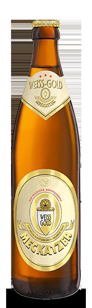 Abbildung Flasche Weiss-Gold