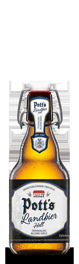 Abbildung Flasche Pott's Landbier Hell