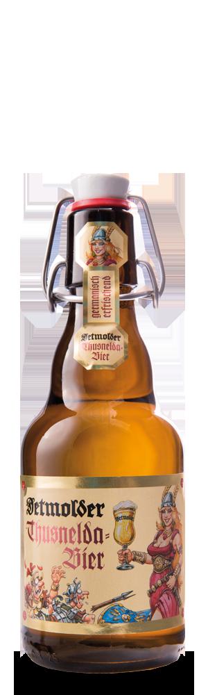 Abbildung Flasche Detmolder Thusnelda-Bier