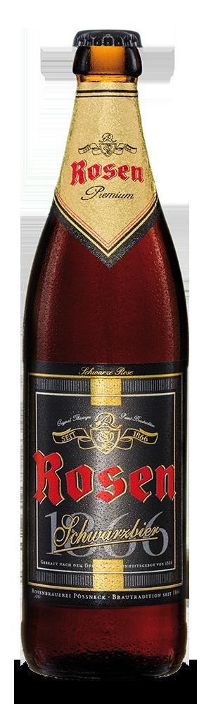 Abbildung Flasche Rosen Schwarzbier