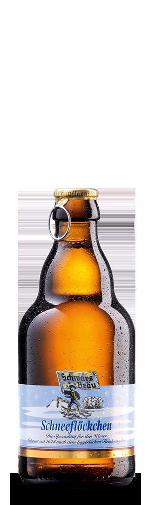 Abbildung Flasche Schneeflöckchen