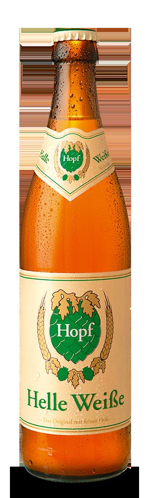 Abbildung Flasche Hopf Helle Weiße